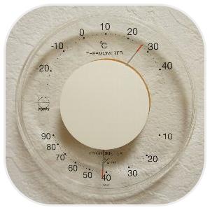 円形の温湿度計