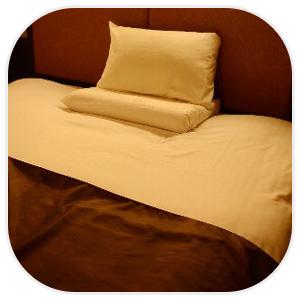 ベッドメイク術で綺麗なベッドに