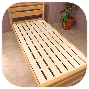 スノコタイプのベッド