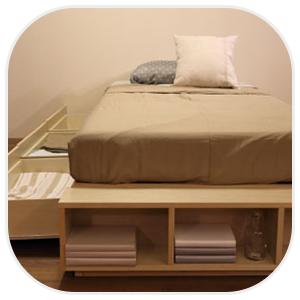 収納付きタイプのベッド