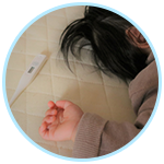 体温計と子ども