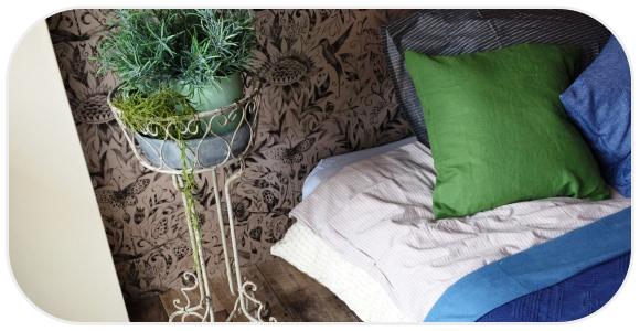 グリーンとベッド