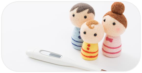 体温計と家族