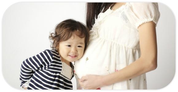子どもと妊婦さん