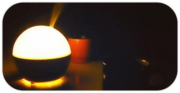 暗い寝室の加湿器