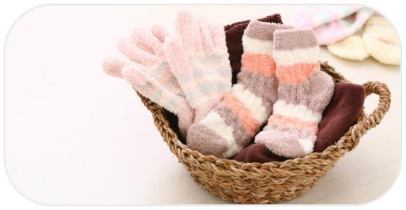 靴下と手袋